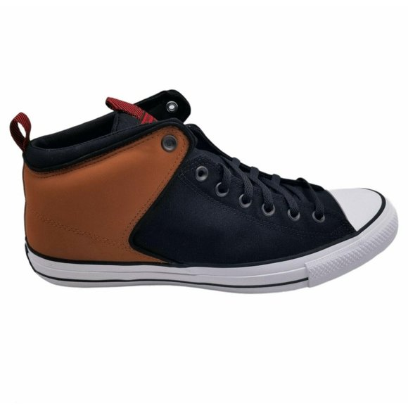Converse Mens All Star Lace Up Tan Black Shoes S13